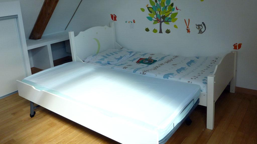 Accès facile à un lit supplémentaire